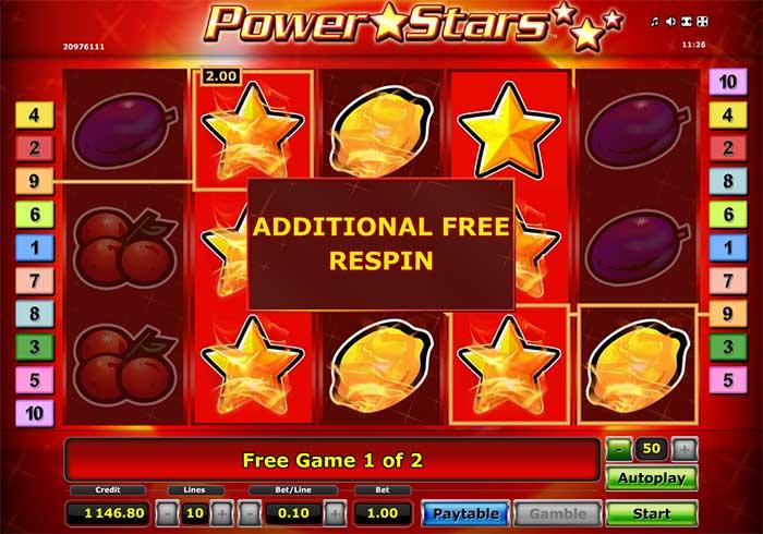 Мощный игровой автомат Power Stars играть онлайн бесплатно