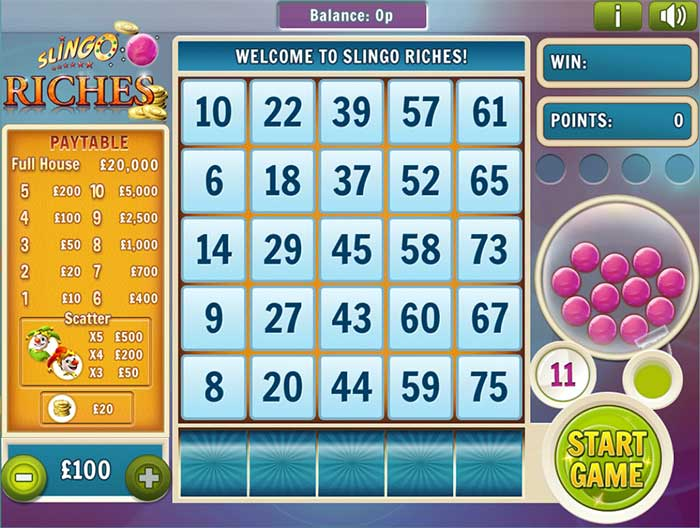 Slingo Riches Casino Game - Review & Play this Online Game