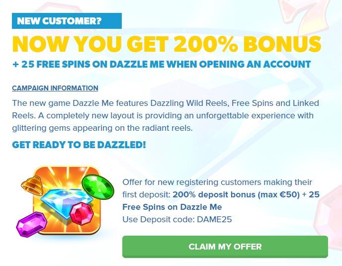 igame casino dazzle me bonus