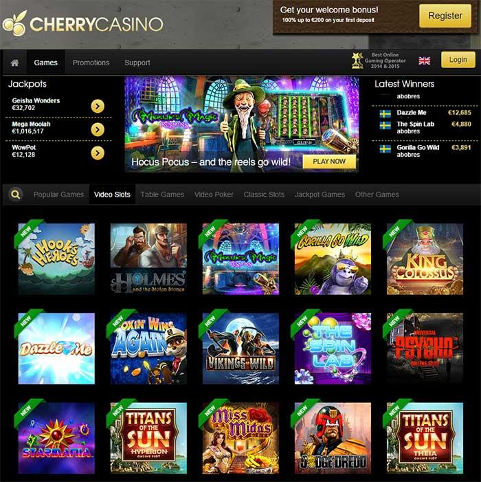 Cherry Casino Nextgen Slots
