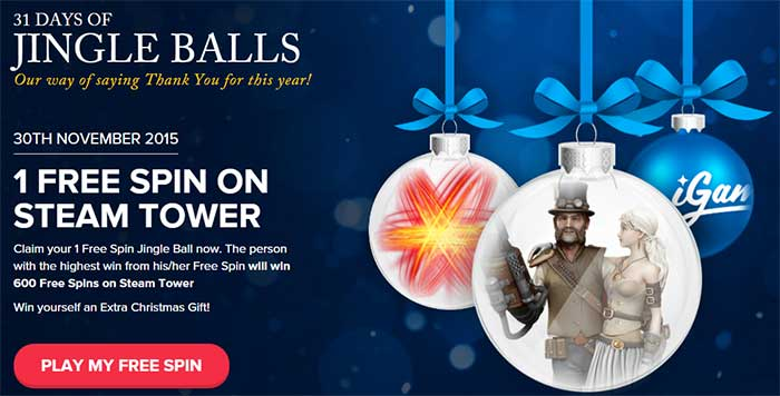 Jingle Bells Free Spins iGame