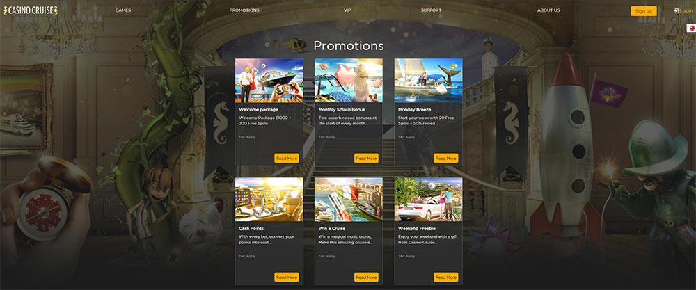 Casino Cruise - Current Promotions
