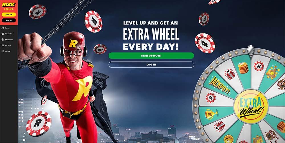 Rizk Casino Home Page