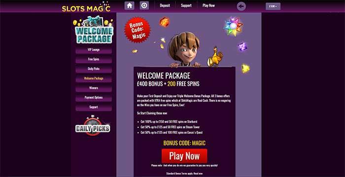 Slots Magic Casino Bonuses 2016