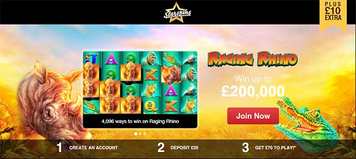 Starspins Exclusive Bonus code page