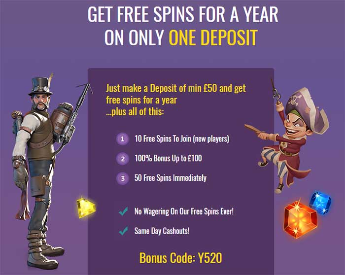 Free Spins for the Year Slots Magic