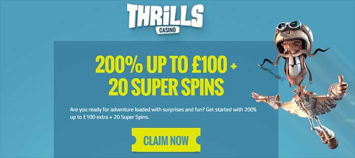 Thrills Casino Bonuses 2016