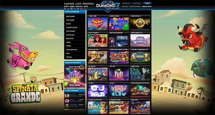 Diamond 7 Casino Online Slots Range