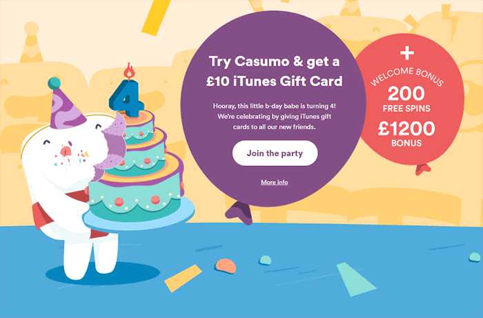 £10 iTunes Gift Card - Casumo