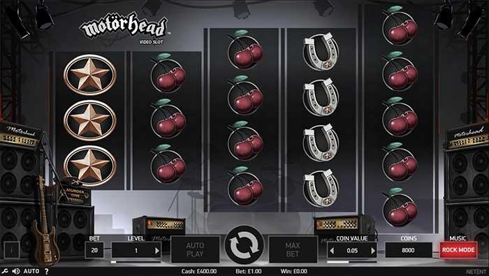 Motorhead Slot base game