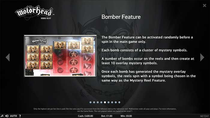 Motorhead Slot bomber feature