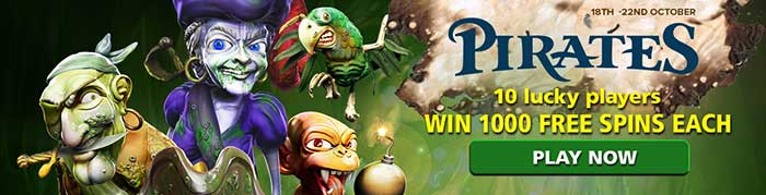 CasinoLuck Ghost Pirates Free Spins