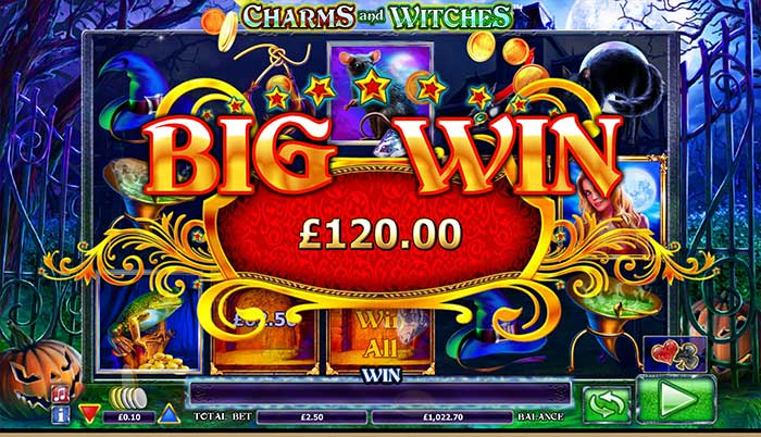 Charms and Witches Slot big win