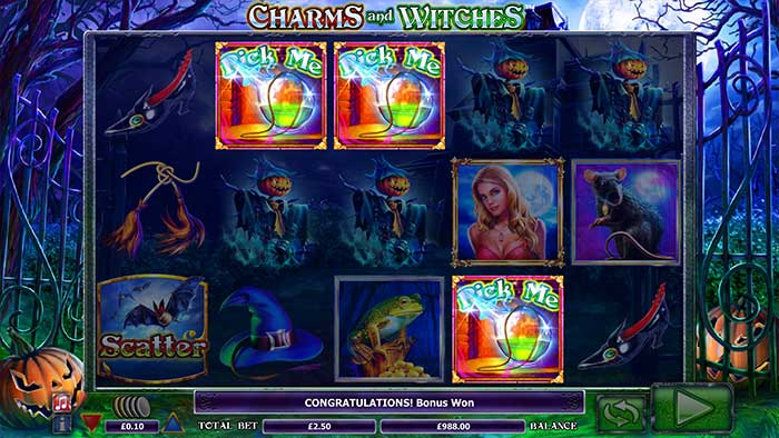 Charms and Witches Slot pick me round