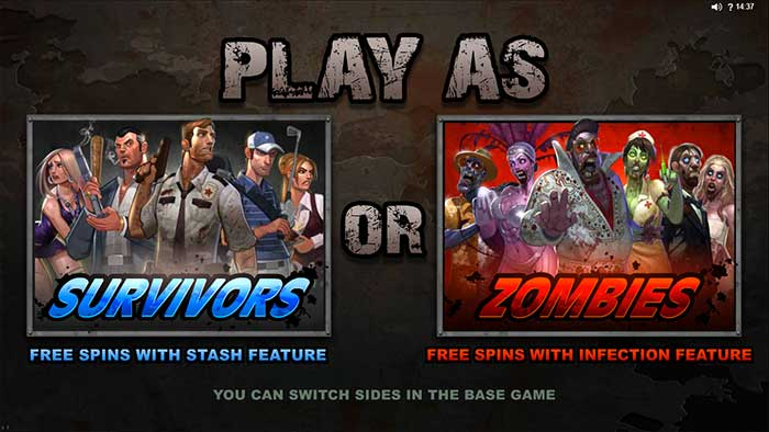 Lost Vegas Slot Intro Screen - Zombies or Survivors