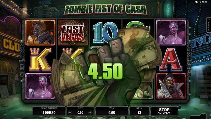 Lost Vegas Slot - Fist of Cash Feature