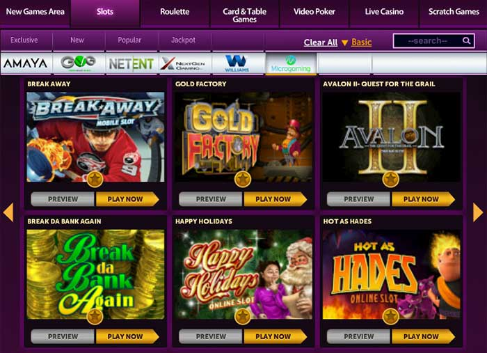 New Microgaming slots