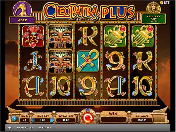 Cleopatra Plus Slot base game