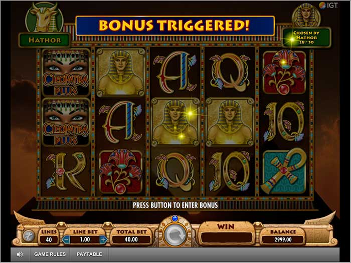 Cleopatra Plus Slot free spins