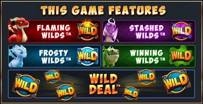 Dragonz Slot bonus features