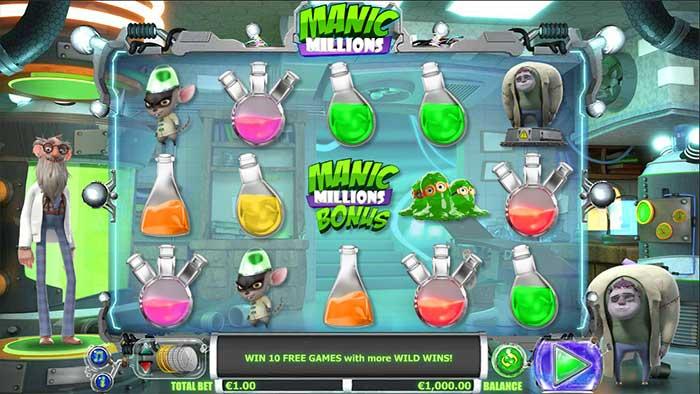 Manic Millions Slot base game