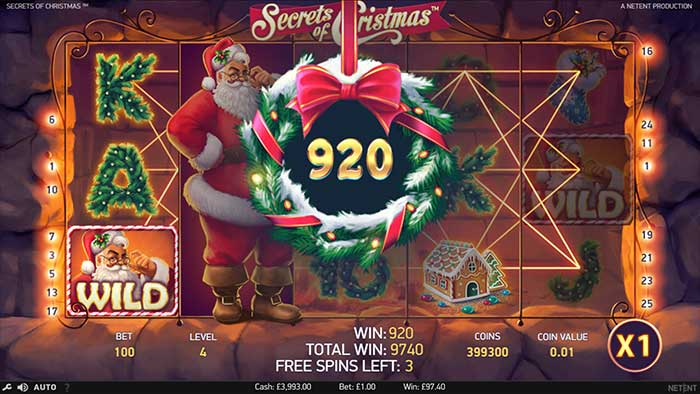 Secrets of Christmas Slot - free spins