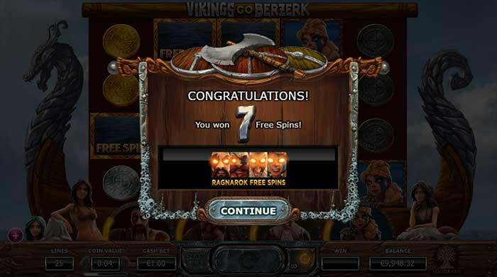 Vikings Go Berzerk slot Ragnarok bonus trigger