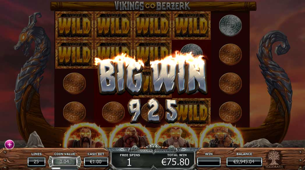 Vikings Go Berzerk slot sticky wilds bonus round
