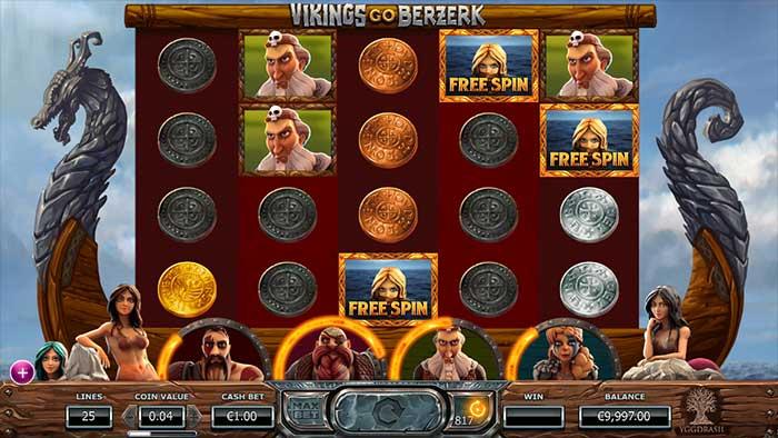 Vikings Go Berzerk slot free spins