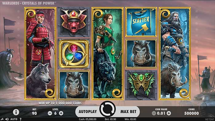 Free Spins for NetEnts Warlords: Crystals of Power