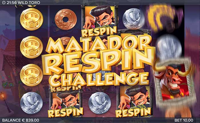 Wild Toro Slot matador re-spin challenge