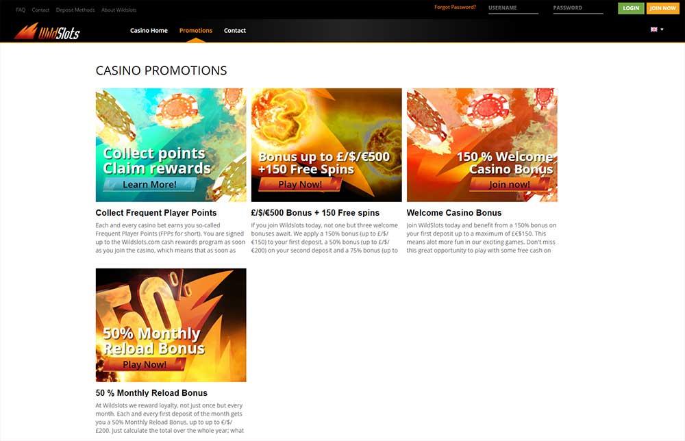 Wildslots Casino Promotions