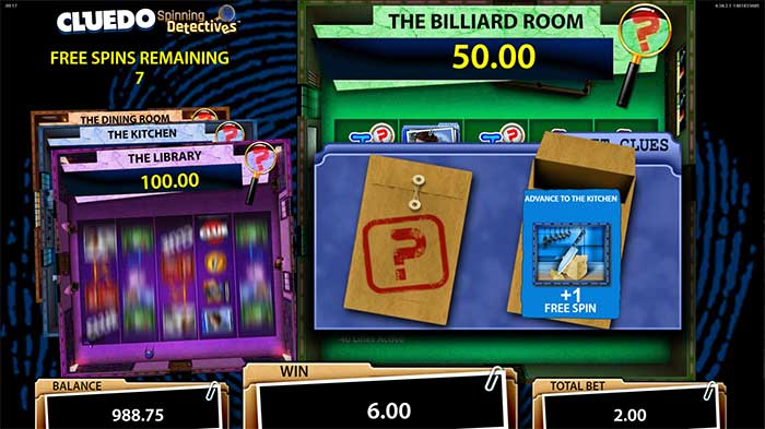 Cluedo Spinning Detectives Slot free spins