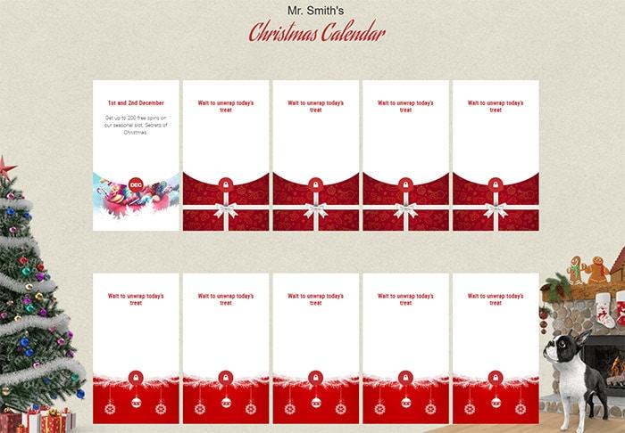 Mr Smith Casino Christmas Calendar 2016