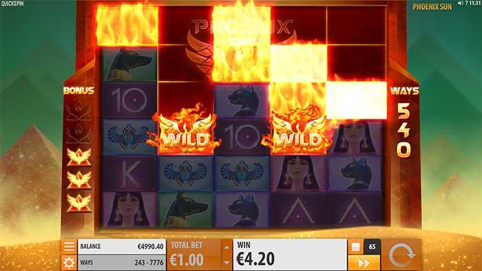 Phoenix Rising Slot rising wilds