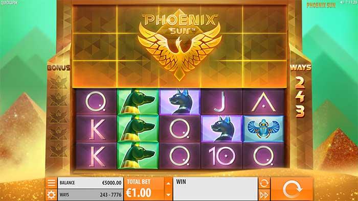 Phoenix Rising Slot base game
