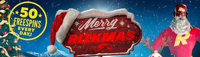Rizk Casino 30 days of Rizkmas promotions
