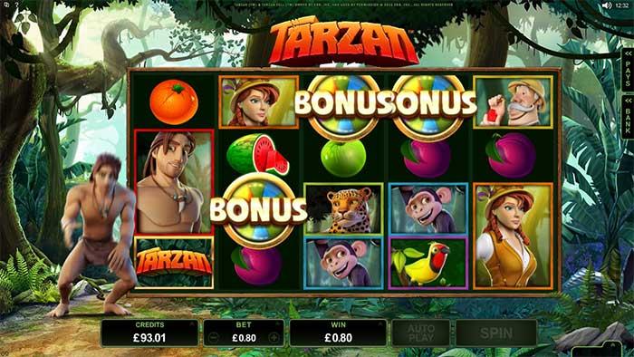 Tarzan Slot Bonus Trigger