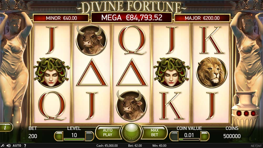 Divine Fortune Slot - Base Gameplay