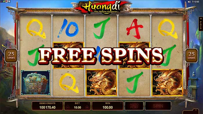 Huangdi The Yellow Emperor slot free spins trigger