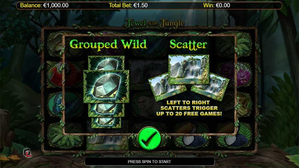 Jewel of the Jungle - Intro Screen