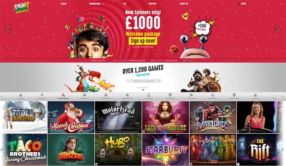 spinit casino bonus code