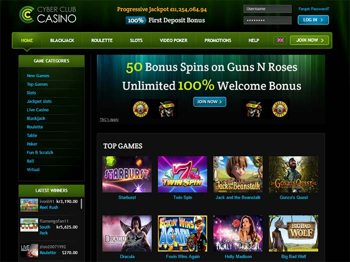 Online Slot at Cyber Club Casino