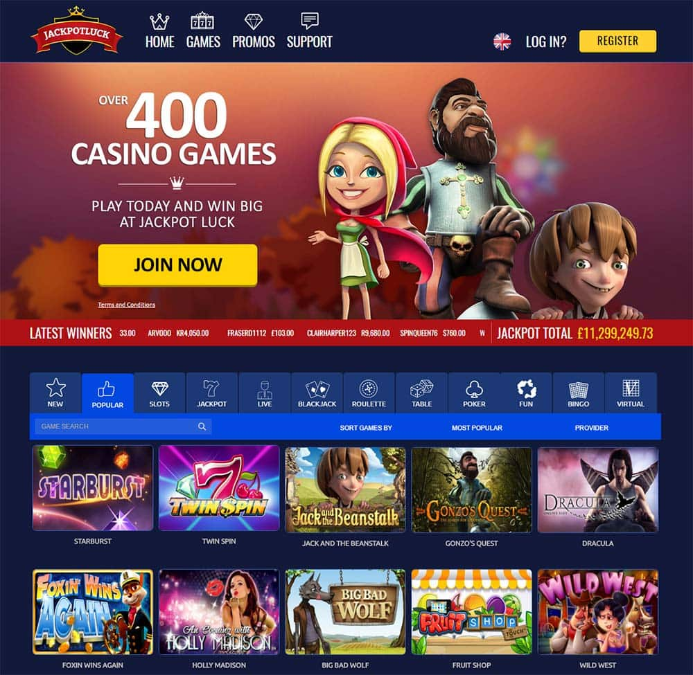 Jackpot Luck Casino - Home Page