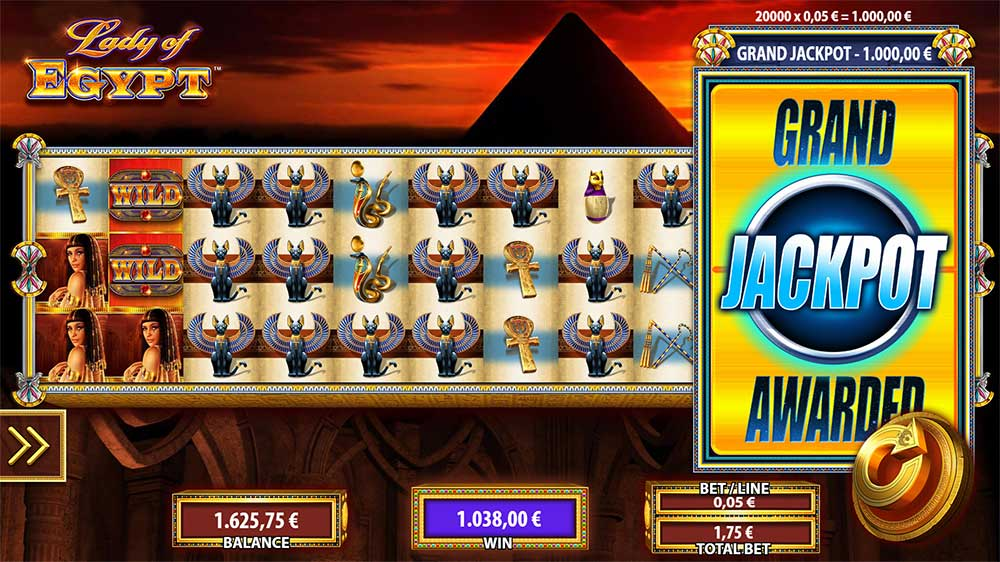 Lady of Egypt slot - this is no ordinary lady