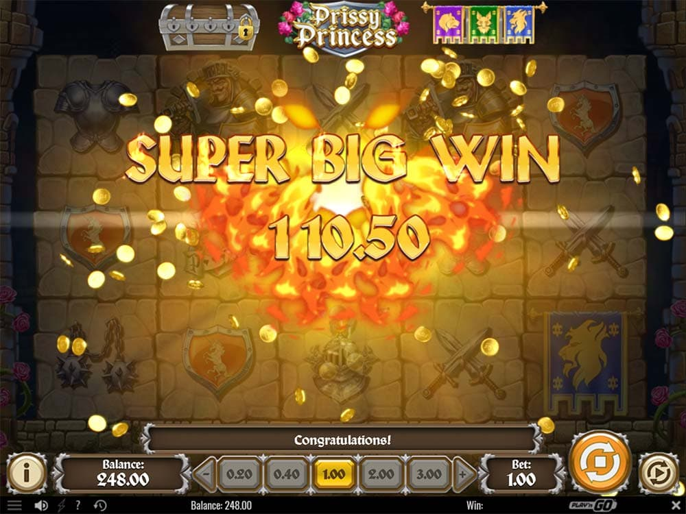 Prissy Princess Slot - Super Big Win