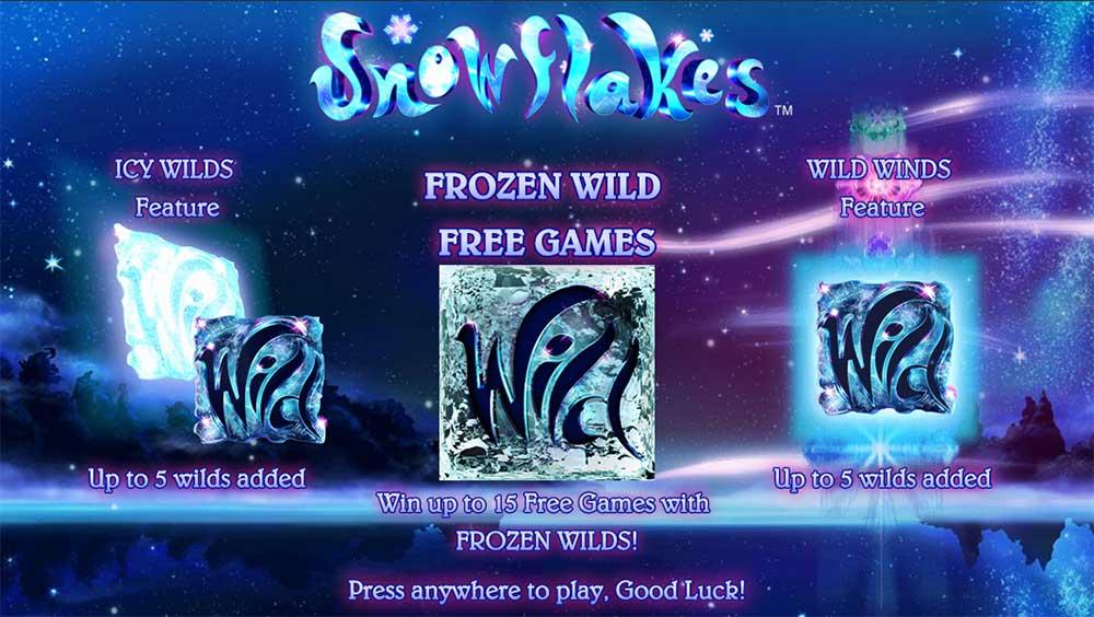 Snowflakes Slot - Intro Screen