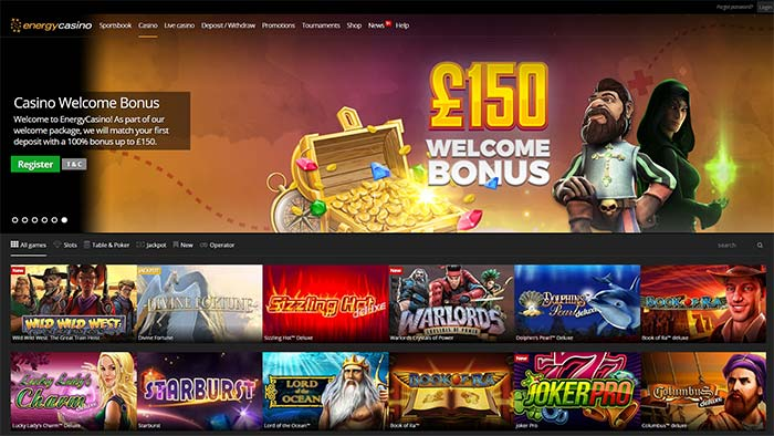 Energy Casino Landing Page