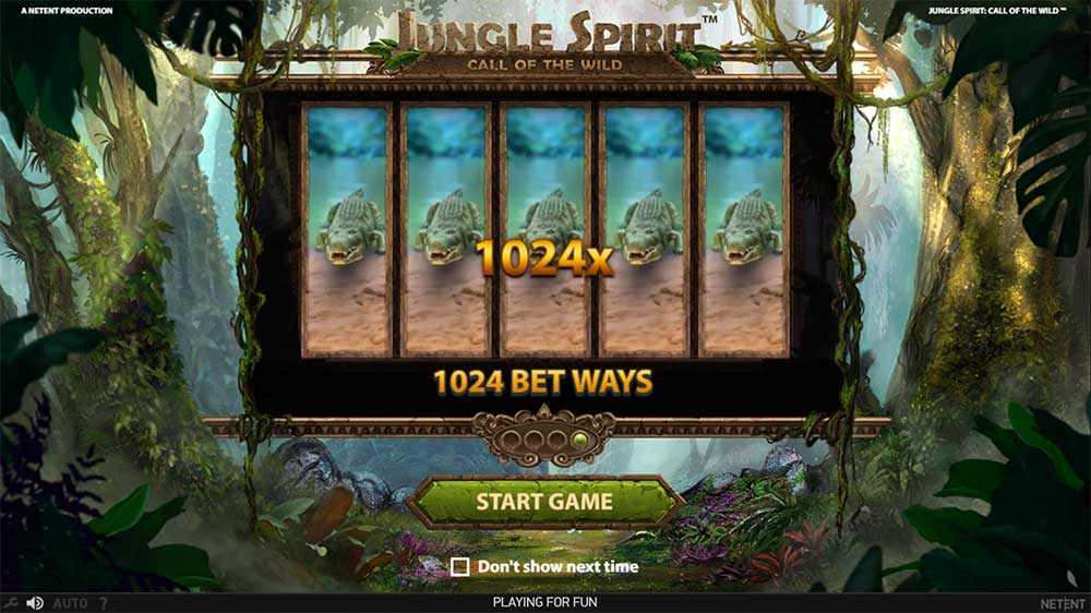 Jungle Spirit Slot - Intro Screen