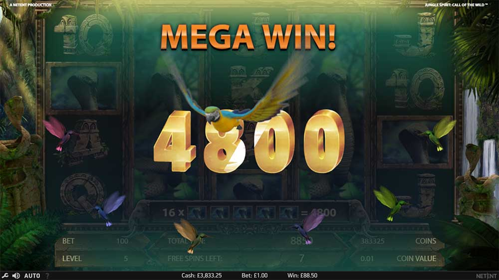 Jungle Spirit Slot - Mega Win